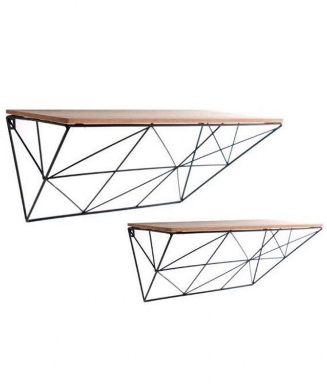 Geometric Wire Shelves